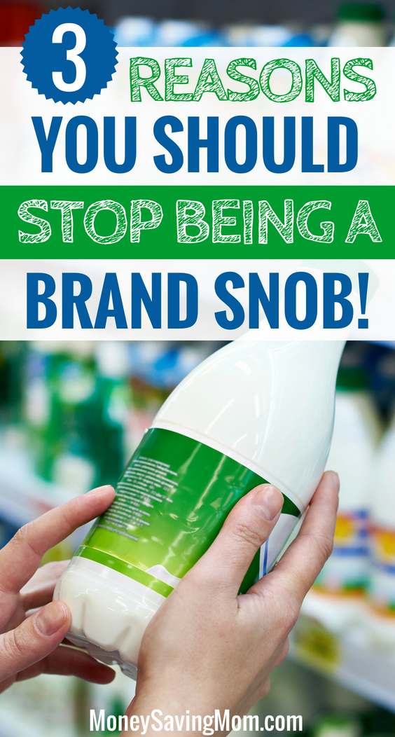 You should stop being a brand snob...and here's why!