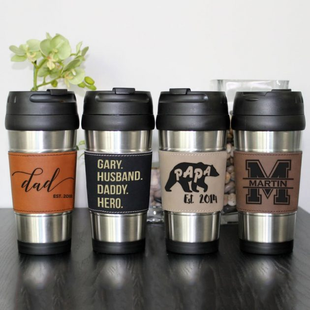 Get a Leather/Stainless Steel Travel Mug for only $12.99 + shipping!