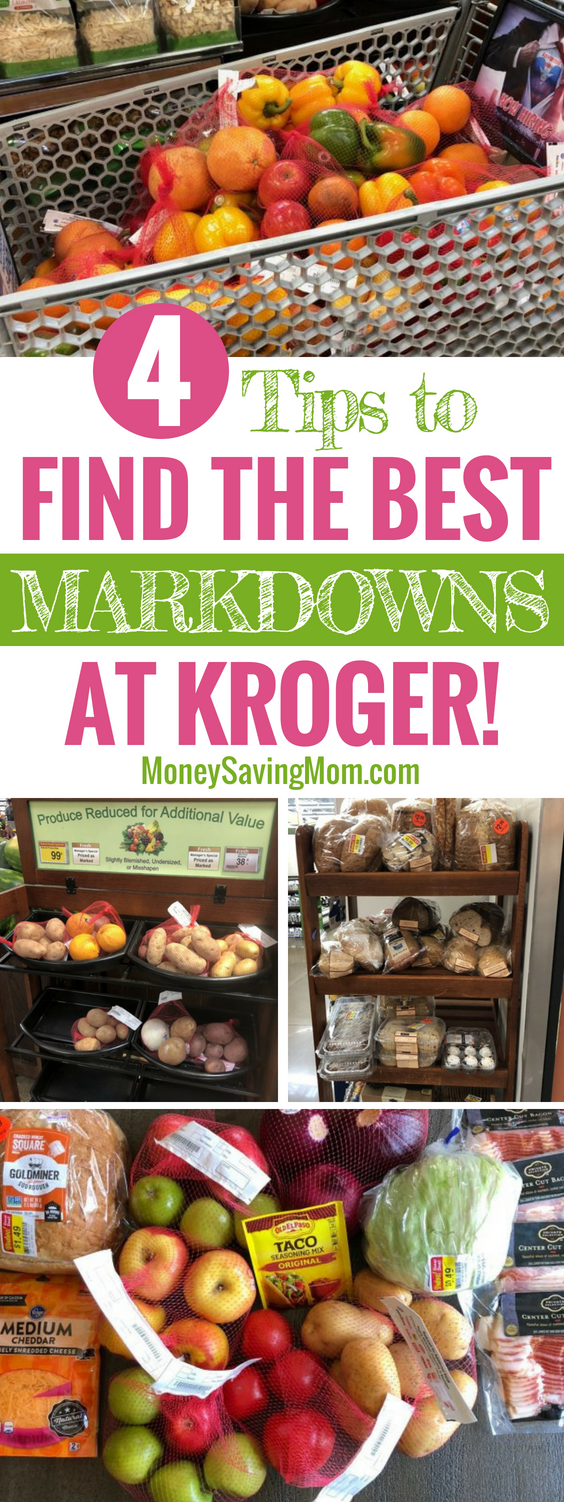 Find the BEST markdowns at Kroger with these 4 simple tips! This is so helpful!!