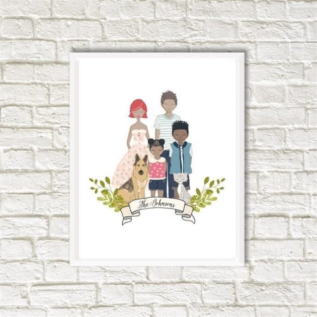 Get a Custom Family Portrait for just $22.99 shipped!