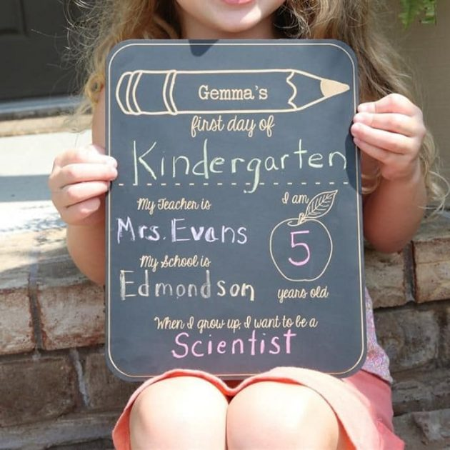 "Get a Personalized ""First Day of School"" Chalkboard for only $9.99 + shipping!"