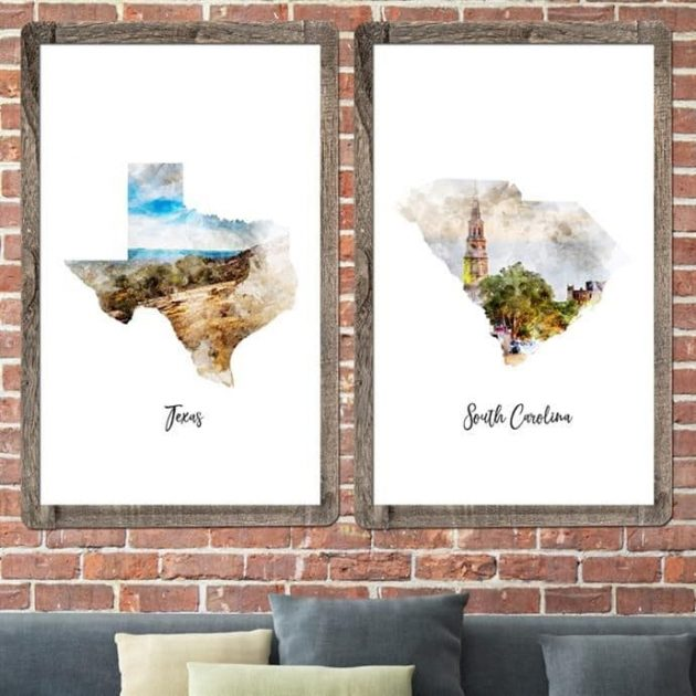 Get a Watercolor Map Poster for only $11.99 shipped!