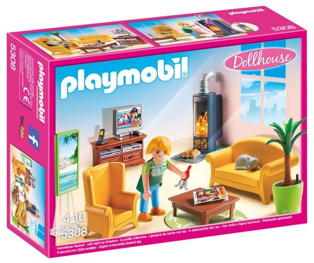 Playmobil Living Room with Fireplace only $13.17!