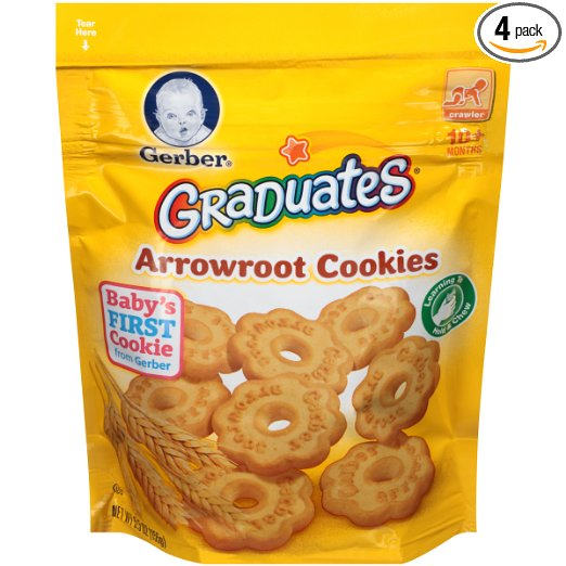 Gerber Graduates Arrowroot Cookies Pouch (Pack of 4) just $4.85 shipped!