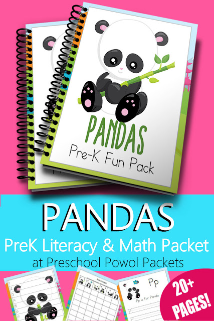 Free Printable Pandas Math & Literacy Preschool Pack - Money Saving Mom®