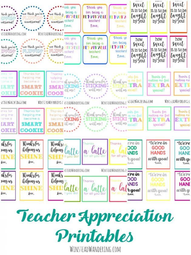 Free Printable Teacher Appreciation Labels | Money Saving ...