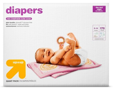 Up & Up Giant Diaper Packs only $17.99 each at Target!