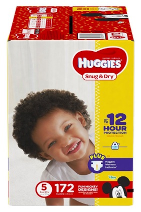 Huggies Snug & Dry Diapers, Size 5, 172 count only $25.71 shipped!