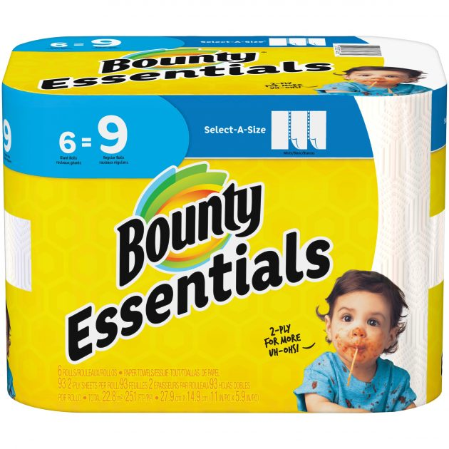 Bounty Paper Towels (6 pack) only $2.74 at Walmart!