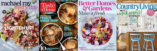 Get Magazine Subscriptions as low as $3.75 (Taste of Home, Better Homes & Gardens, Rachael Ray, and more!)