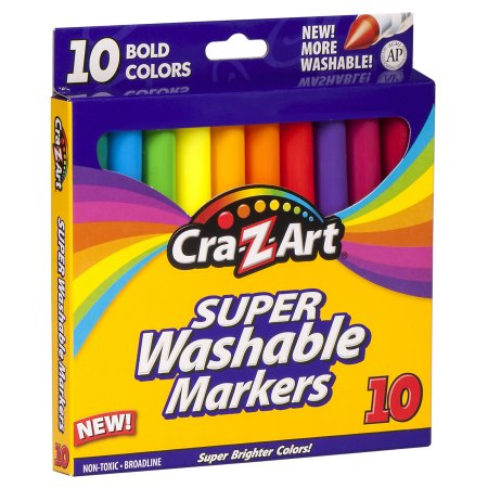 Cra-Z-Art Bold Washable Broadline Markers (10 Count) only $0.50!