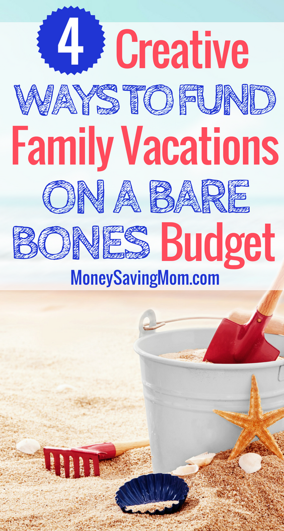 Fund your family vacations even when you're on a bare bones budget. This post is SO helpful with really practical tips!