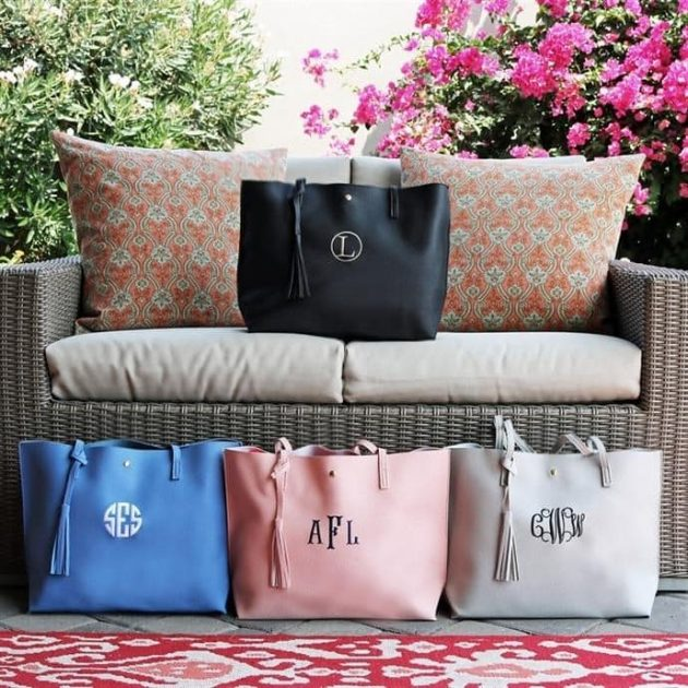 Personalized Tassel Totes only $13.99 + shipping!