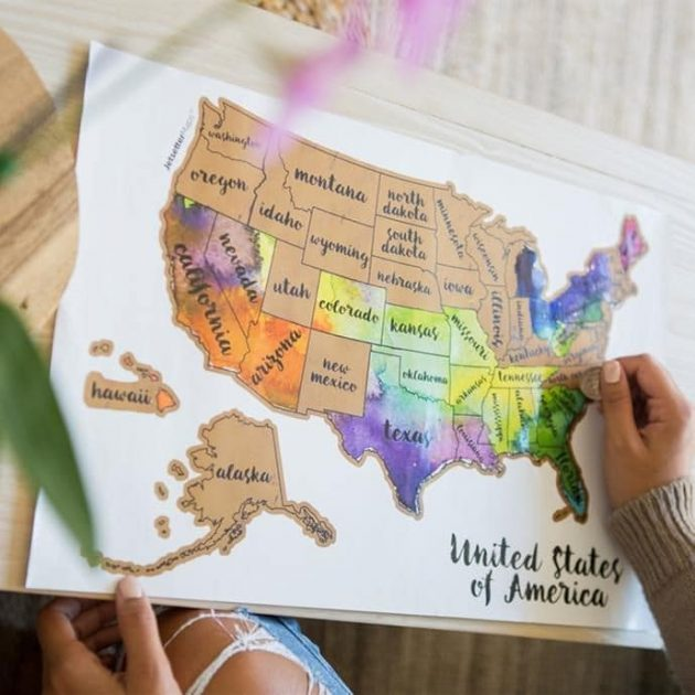 Scratch Your Travels USA Map just $16.79 + shipping!