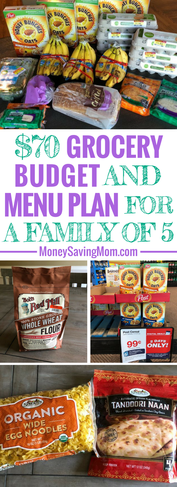 This $70 weekly grocery budget for a family of 5 is SO inspiring and filled with creative ways to save!