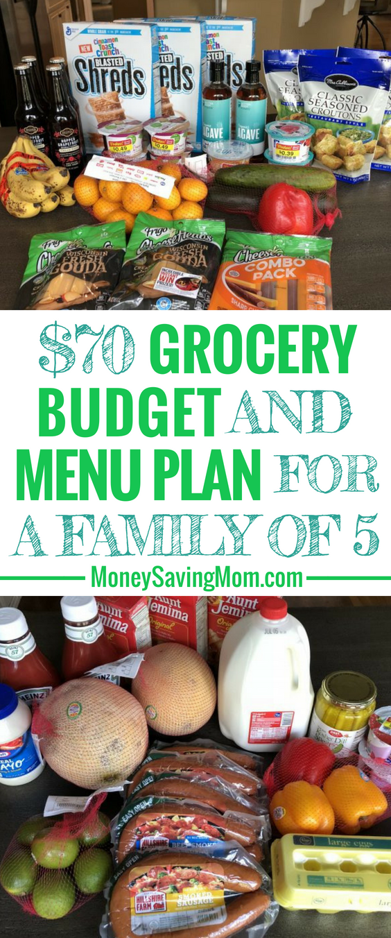 This $70 weekly grocery budget is impressive for a family of 5!
