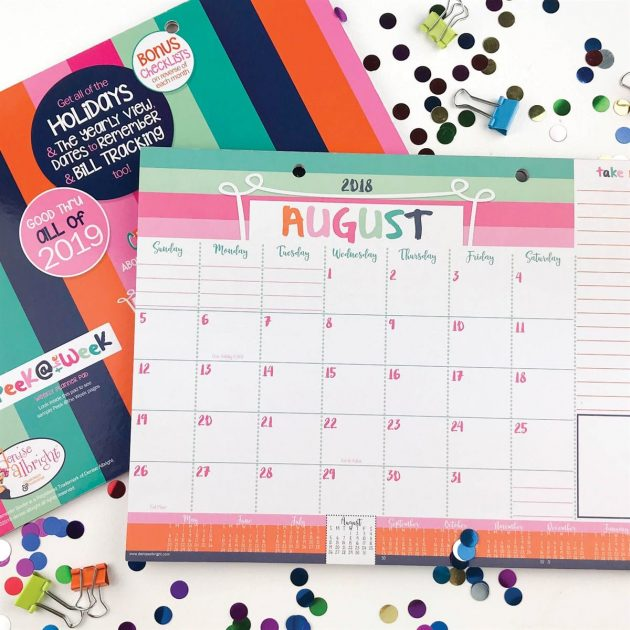17-Month Desk Calendars only $8.95 + shipping!
