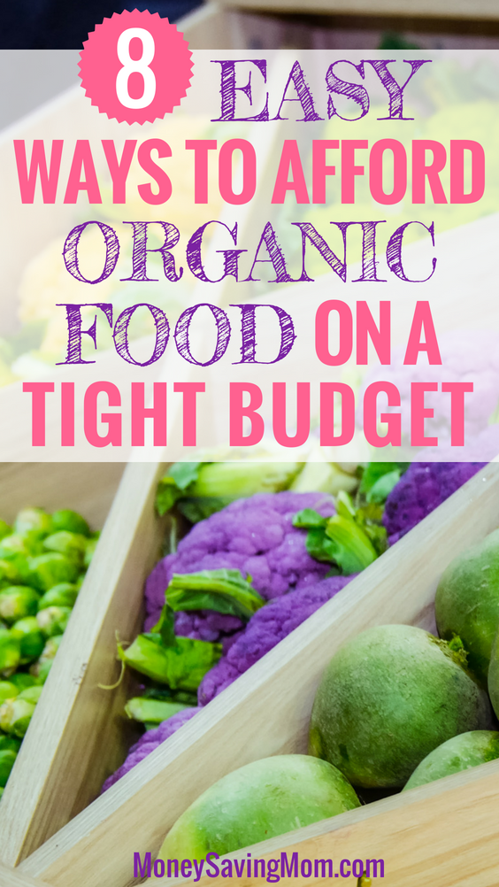 You can afford organic food on a budget! Here's how!!