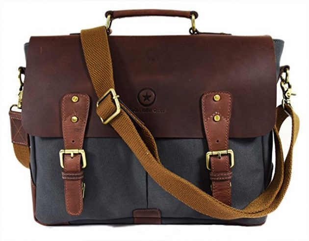 Handmade Leather Canvas Messenger Bag only $37.49 shipped {Lowest Price!}