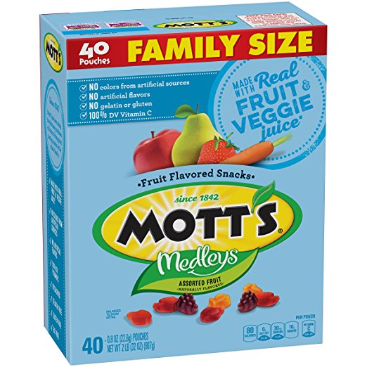 Mott's Medleys Fruit Snacks (Family Size, 40 pouches) only $4.70!