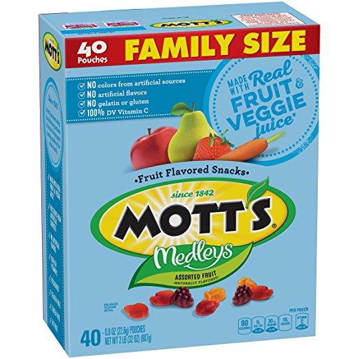 Mott's Medleys Fruit Snacks (Family Size, 40 pouches) only $4.70!