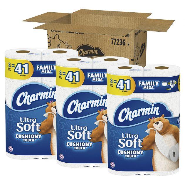 Charmin Ultra Toilet Paper Family Mega Rolls (24 Pack) only $22.49 shipped!
