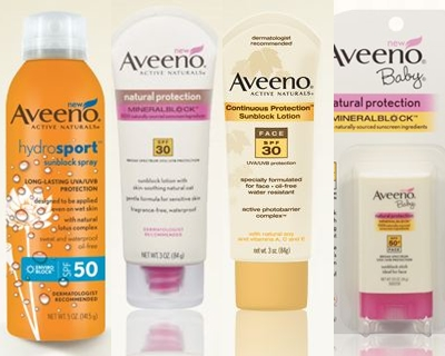 High Value $3/1 Aveeno Suncare Printable Coupon