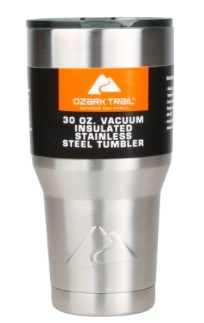 Ozark Trail 30-Ounce Double-Wall Vacuum-Sealed Tumbler (2 pack) only $10!