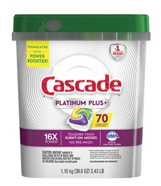 Cascade Platinum Plus Dishwasher Detergent (70 count) only $10.99!