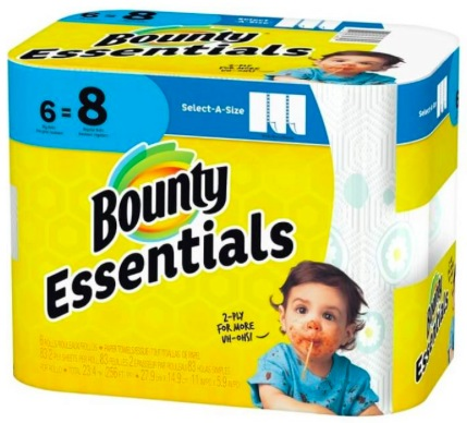 New $1.50/1 Bounty Paper Towels Printable Coupon = Paper Towels as low as $0.37 per roll!