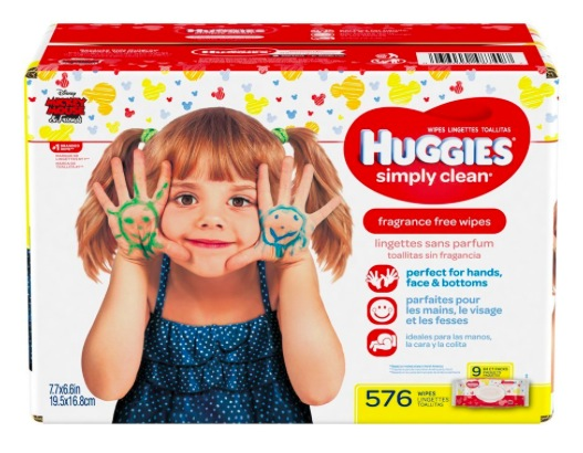 Huggies Simply Clean Fragrance-Free Baby Wipes, 576 count just $0.02 per wipe shipped!