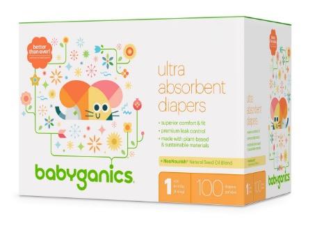 image relating to Babyganics Coupon Printable titled Fresh new $5/1 BabyGanics Diapers Coupon \u003d Club Pack Diapers for