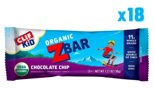 Clif Kid 18-Count Organic ZBars only $8.54 shipped!