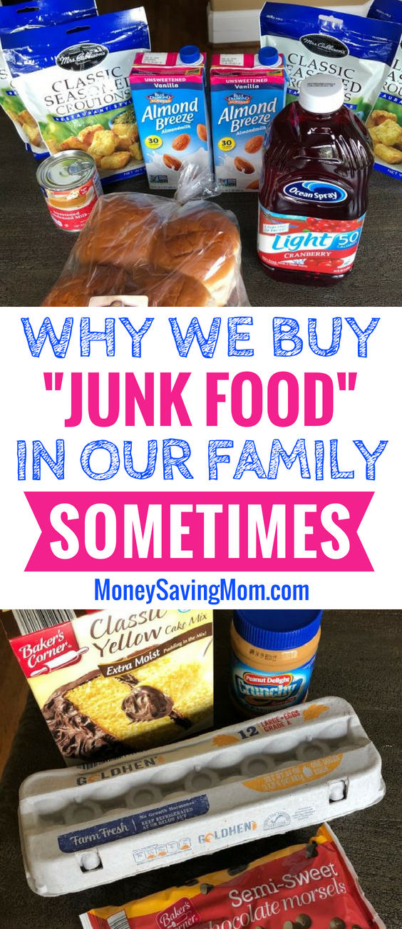 It's okay to buy junk food sometimes and NOT feel guilty about it!