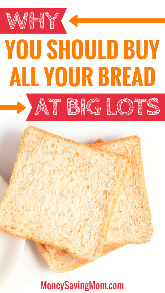 Did you can buy bread at Big Lots?! And it'll save you TONS of money!
