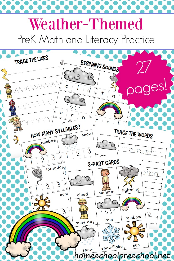 - Free Printable Weather Themed Math And Literacy Worksheets Money