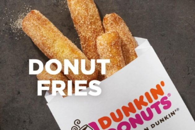 Free Donut Fries at Dunkin' Donuts on July 13, 2018