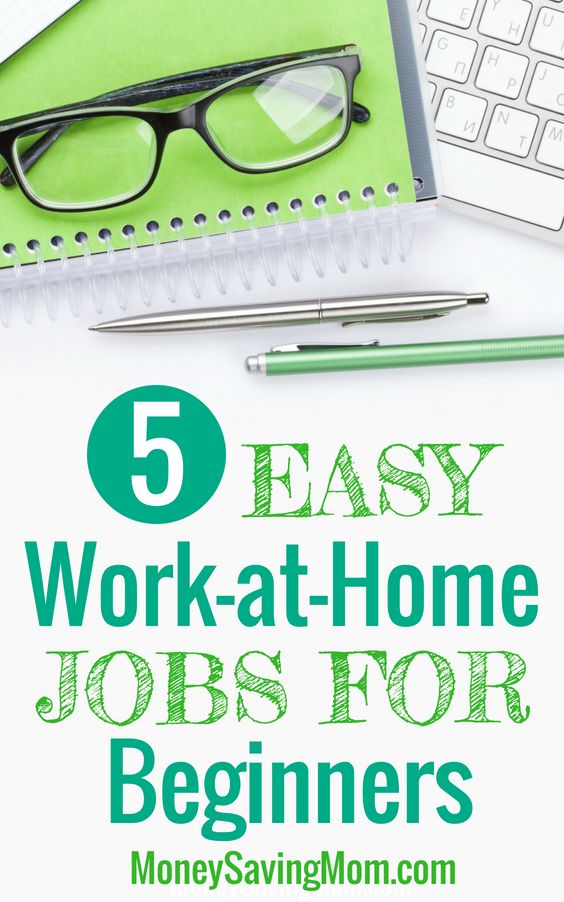This list of easy work-at-home jobs is so helpful for beginners!