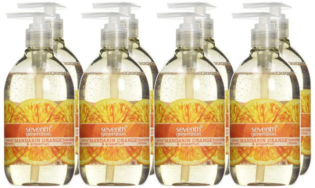 Seventh Generation Hand Wash Soap, Mandarin Orange & Grapefruit (Pack of 8) only $14.50 shipped!