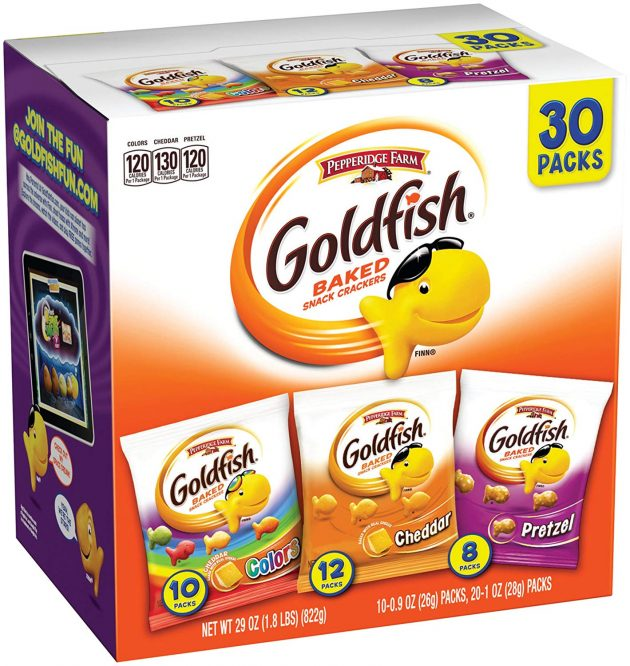 Pepperidge Farm Goldfish Variety Pack Classic Mix (30 count) only $6.98 shipped!