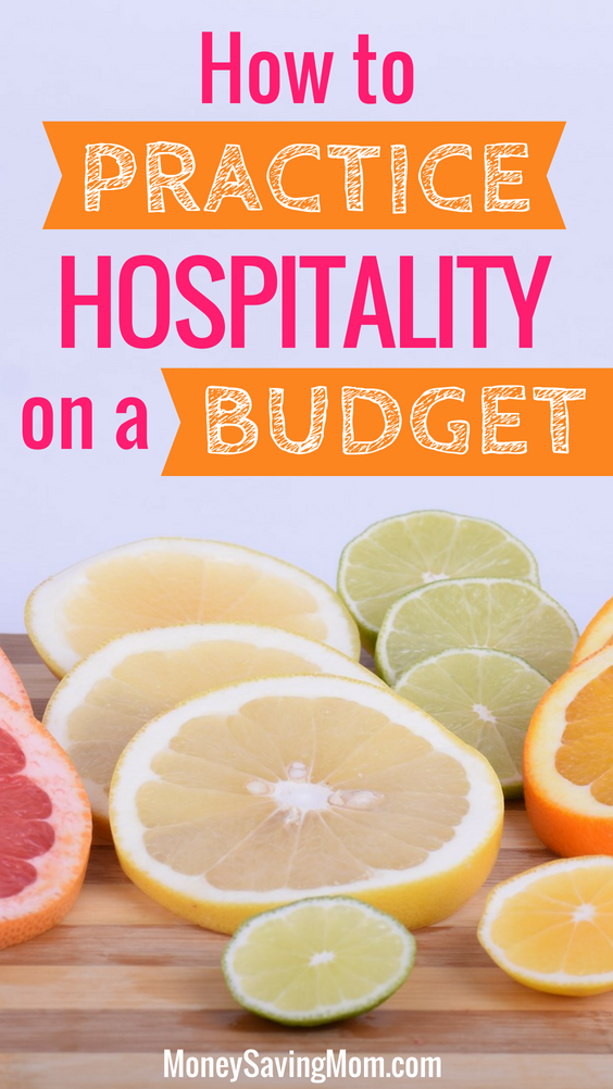 Show hospitality -- even when you're on a tight budget! These are GREAT tips!