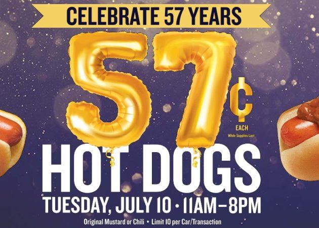 photo regarding Wienerschnitzel Printable Coupons named Wienerschnitzel: $0.57 Sizzling Puppies upon July 10, 2018 Income