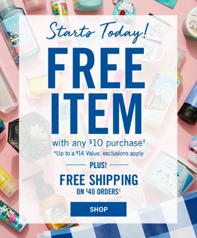 441e23cd9f Bath & Body Works: Free item with any $10 purchase - Money Saving ...