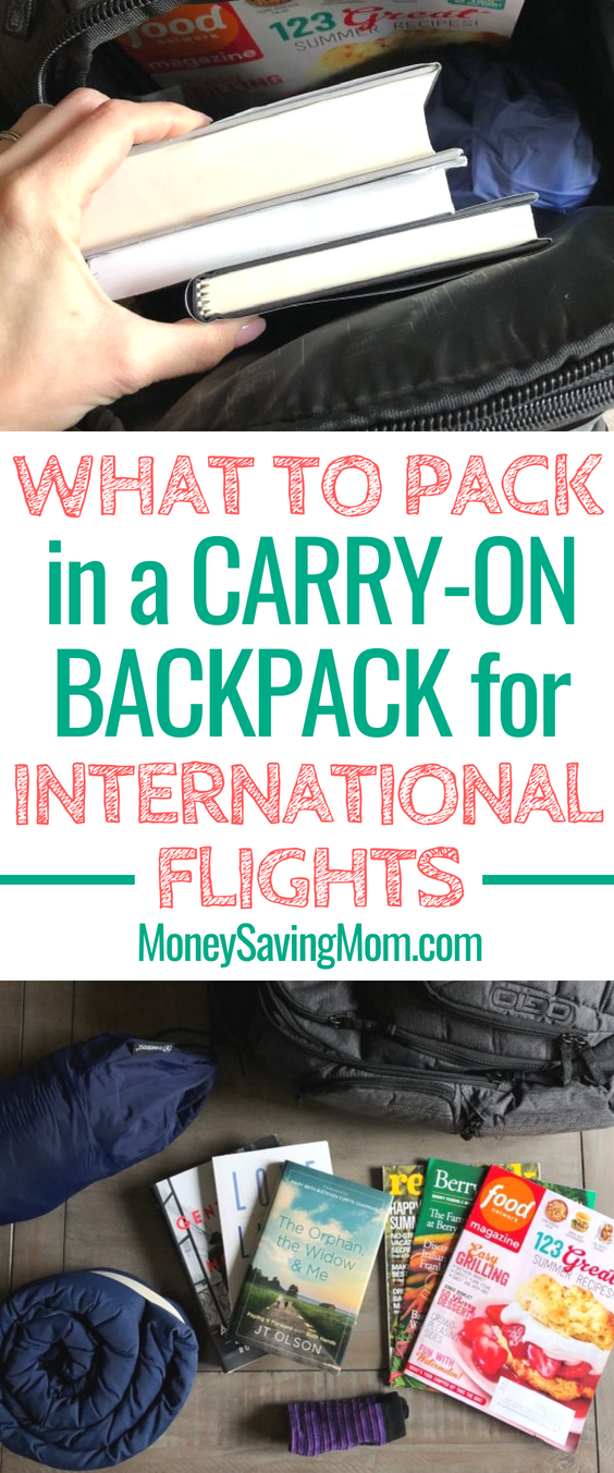Planning a long trip? This list of carry-on backpack essentials is really helpful for international flights!
