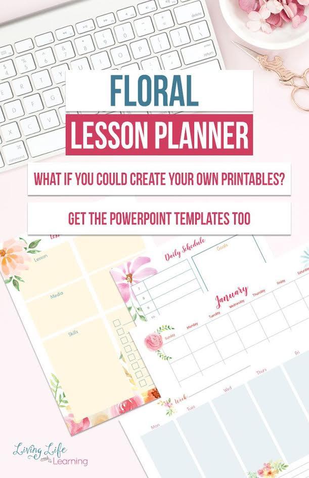 free printable floral lesson planner money saving mom money