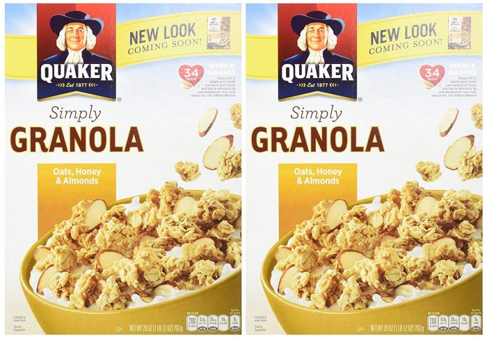 Quaker Simply Granola Oats, Twin Pack only $6.75 shipped!