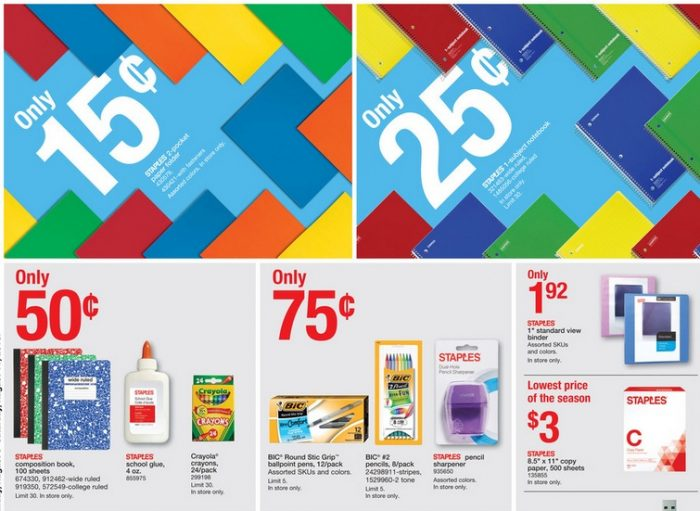 Here Are The Best Back To School Deals At Staples For Week Of August 5 2018