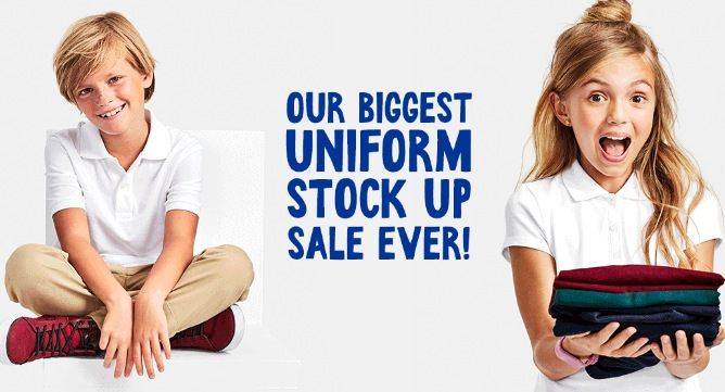 Hot The Childrens Place Stock Up Prices On School Uniforms