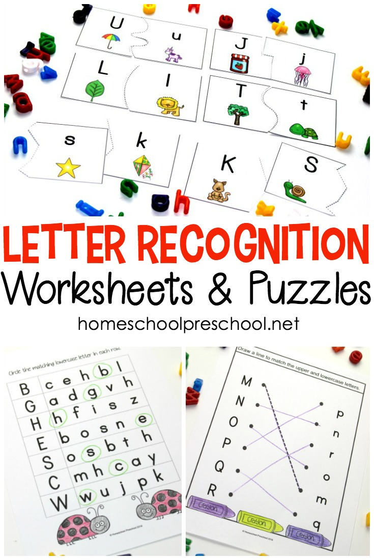 Free Printable Letter Recognition Worksheets and Puzzles ...