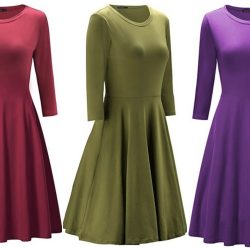 Money saving mom intentional finance intentional family womens 34 sleeve casual cotton flare dress as low as 1614 fandeluxe Choice Image